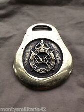 Excellent Vintage British Army 24th Lancers Military Horse brass