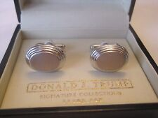 Donald Trump Engraveable Oval Silver-Tone Cufflinks