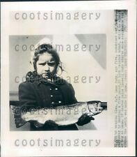 1948 Cute Five Year Old NY Girl With Catch of Rainbow Trout Press Photo
