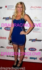 """Smokin HOT Courtney Force """"Espys The Body"""" Beauty in Blue Funny Car Driver PHOTO"""