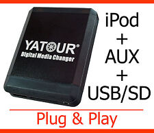 USB MP3 iPod iPhone Aux Adapter Peugeot 207 307 308 407 607 807 1007 5008 RD4