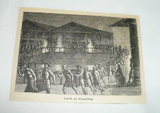 1880 small magazine engraving ~ SCENE AT SINGAPORE
