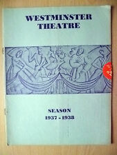 1937/38 Westminster Theatre Programme-MOURNING BECOMES ELECTRA by Eugene O'Neill
