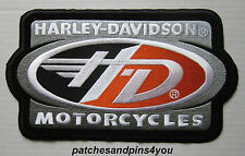 Harley Davidson Large H-D Motorcycles Racing Flight Patch New! FREE UK P&P!