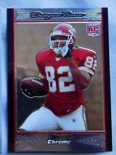 2007 Bowman Chrome Dwayne Bowe Chiefs rookie Football Card