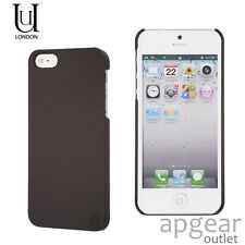 UUNIQUE LONDON UUIP5H02 BLACK TEXTURED BACK CASE COVER iPhone 5 5s SE