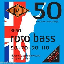 ROTO BASS GUITAR RB50 Scala Lunga Heavy Gauge Stringhe 50-110 NUOVO ERMETICA Pack