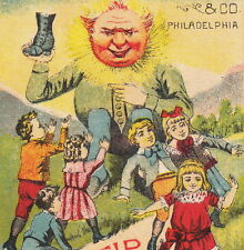 Bad Boots Before & After Mundell Solar Tip Shoes Fantasy Sun Anthropomophic Card