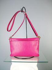 Fossil Cross Body Pink Fuchsia Cowhide leather crossbody bag organizer