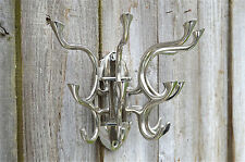 SUPERB LARGE OCEAN LINER SWIVEL MULTIPLE COATHOOKS RACK COAT HOOK DOOR WALL MH1