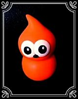 """** Large Zingy EDF flame mascot Cake Topper - 2 3/4"""" tall - XL handmade fimo **"""
