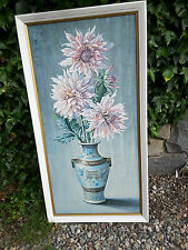 DAHLIAS BY TRETCHIKOFF VINTAGE RETRO FRAMED  PICTURE PRINT LARGE