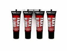 4 x Fake Blood 10ml Stage Blood Vampire Halloween Blood  Fancy Dress Face Paint