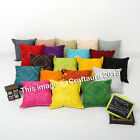 """Indian Cotton Cushion Cover Ethnic Decorative Embroidered Pillow Decor Throw 16"""""""