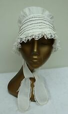 Bonnet Pin Tucks & Lace Trim Antique Girls Dolls Child's Ladies Handmade Cap Hat