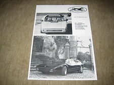 Sbarro Type Super-Stash Prospekt Blatt single Brochure von 1974