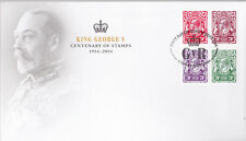 2014 King George V Centenary of Stamps (Block of 4) FDC - Sydney NSW 2000 PMK