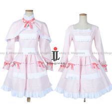 Another Mei Misaki LO Pink Dress Cloak Uniform COS Cloth Cosplay Costume