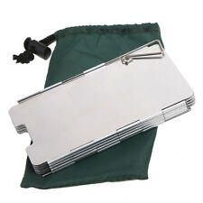 9 Plates Foldable Outdoor Camping Stove Wind Shield Screen for Camping Picnic US