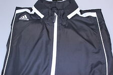 Adidas Climaproof Wind Resistant Full Zip Stretch Golf Wind Jacket Black Small