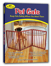 Freestanding Folding Wood Pet Animal Safety Gate Fence Pen Doorway Hall Stairs