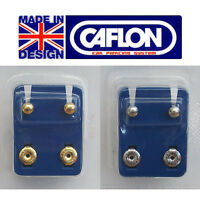 CAFLON EARRINGS - Stainless Steel or 24ct Gold Plated Studs - Brand New Sterile
