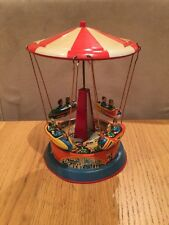 VINTAGE SPINNING CAROUSEL TIN LITHOGRAPH TOY