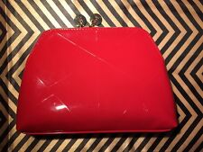 Auth Yves Saint Laurent YSL RED patent cosmetic/makeup bag pouch Clutch VIP GIFT