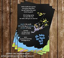 Oh The Places You'll Go - Chalkboard - Birthday Party Invitation - 15 Pack