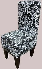 Black & White Ozborne Design vanity dining chair