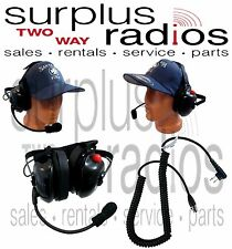 New Dual Ear Racing Headset For Motorola Radios RDU2020 RDMU2040 RMM2050 RMV2080