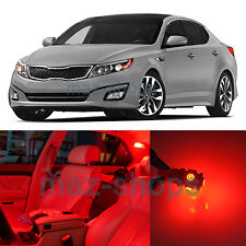 Red 10 Pieces Interior LED Light Bulbs Package Fit for Kia Optima 2011-2014