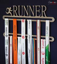 Running medal display double hanger, Runner medal holder