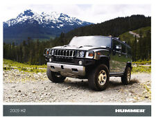 2009 Hummer H2 - Last Year - Original Sales Brochure Fact Sheet