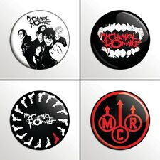 "4-Piece MCR MY CHEMICAL ROMANCE  1"" Pinback Band Buttons / Pins / Badges Set"