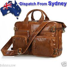 Handmade Genuine Leather Backpack Briefcase Laptop Business Travel Bag DS015B-AU