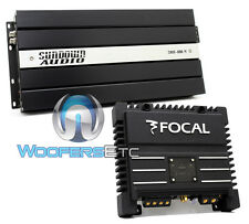 pkg FOCAL SOLID-2 2-CHANNEL + SUNDOWN AUDIO SAX100.4V2 CAR 4 CHANNEL AMPLIFIER
