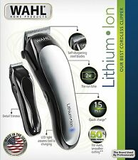 NEW Wahl 79600-2101 Lithium Ion Cordless Hair Clipper Barber Trimmer Electric