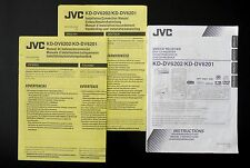 JVC KD-DV6202/DV6201 DVD/CD Receiver Original Bedienungsanleitung/Owner`s Manual