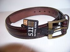 NEW 5.11 TACTICAL SERIES STRAP LEATHER BROWN BELT SIZE 40 - 42 EXCELLENT QUALITY