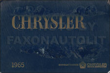 1965 Chrysler Color and Upholstery Dealer Album 300 300L Newport New Yorker