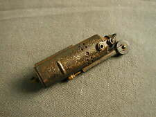 VINTAGE METAL LIGHTER - ENGRAVED SHIELD & STARS - BOWERS MFG CO KALAMAZOO MICH