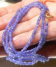 GENUINE NATURAL GEM GRADE ROYAL BLUE FACETED SAPPHIRE 14K GOLD NECKLACE