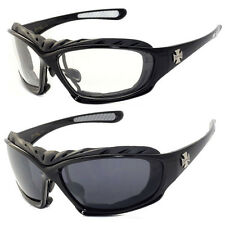 2 Pairs Motorcycle Padded Foam Driving Riding Glasses Sunglasses - C49