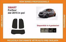 pellicola oscurante vetri pre tagliata smart forfour dal 2015 kit posteriore