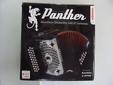Hohner Panther 31 Button Diatonic Accordion Box Opened, Product New!