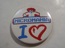 PIN'S BADGE BROCHE MICROMANIA I LOVE