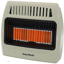 NEW KOZY WORLD KWN521 INFRARED NATURAL GAS HEATER 5 PLAQUE WALL MOUNT 4494902