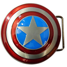 Belt Buckle Captain America Shield (Raised)* Movie Comic Book Marvel Superhero *