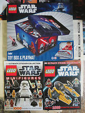 Lego Star Wars ZipBin Toy Box & PlayMat with Two Ultimate Sticker Books Lot